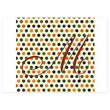 Fall Monogram Initial Invitations