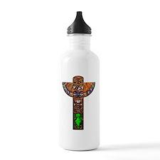 Totem Pole Texture Fra Water Bottle