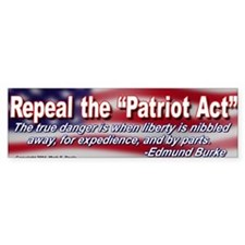 Repeal the Patriot Act Bumper Bumper Sticker