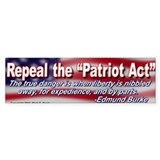 Repeal the Patriot Act Bumper Car Sticker