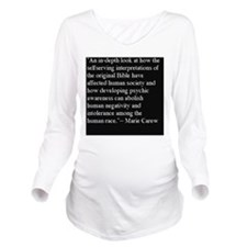 5-Psychic Back Cover Long Sleeve Maternity T-Shirt