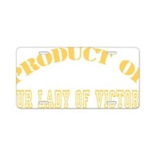 Product of OLV Yellow Aluminum License Plate