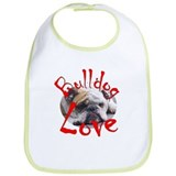 Bulldog Love Bib