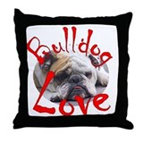 Bulldog Love Throw Pillow