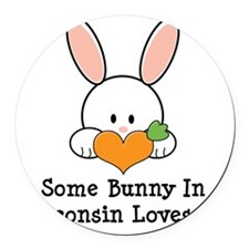 SomeBunnyStateLovesMe Round Car Magnet