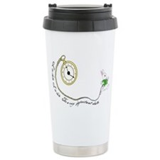 Follow the White Rabbit Ceramic Travel Mug
