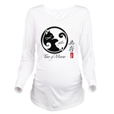 yin-yang-cats Long Sleeve Maternity T-Shirt