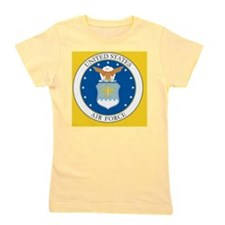 4-USAF-Coat-Of-Arms-Button Girl's Tee
