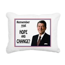 Reagan HOPE CHANGE - WHI Rectangular Canvas Pillow