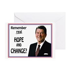 Reagan HOPE CHANGE - WHITE Greeting Card