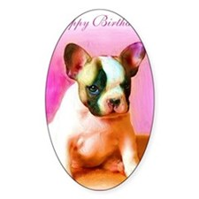 happy_birthday_french_bulldog_art_g Decal