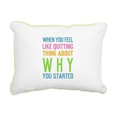 Funny Sports motivational Rectangular Canvas Pillow