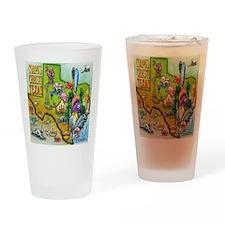 Corpus Christi TEXAS Map CF Tee Drinking Glass