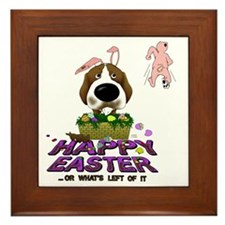 BeagleEasterShirt Framed Tile