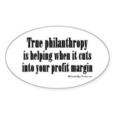 True Philanthropy Oval Decal
