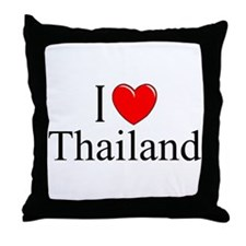 """I Love Thailand"" Throw Pillow"
