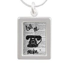 Call Me Maybe Silver Portrait Necklace