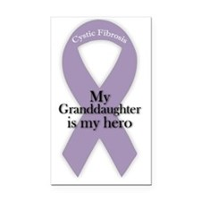 granddaughterHeroPurpleRibbon Rectangle Car Magnet