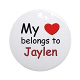 My heart belongs to jaylen Ornament (Round)