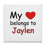 My heart belongs to jaylen Tile Coaster