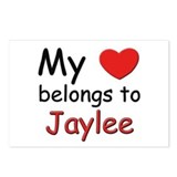 My heart belongs to jaylee Postcards (Package of 8