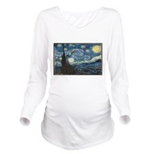 van gogh Long Sleeve Maternity T-Shirt