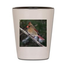 Female Cardinal Shot Glass