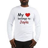 My heart belongs to jayla Long Sleeve T-Shirt