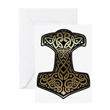 Thor__s_Hammer_brass Greeting Card