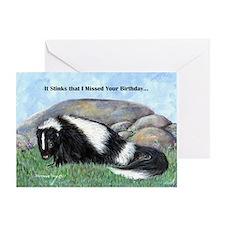 skunk55x75bdaylate Greeting Card