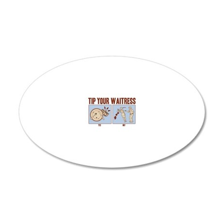 tipping-2-LTT 20x12 Oval Wall Decal