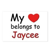My heart belongs to jaycee Postcards (Package of 8