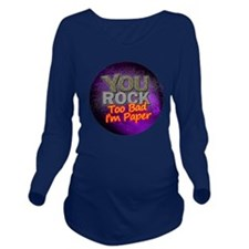 2-you_rock_circle_20 Long Sleeve Maternity T-Shirt