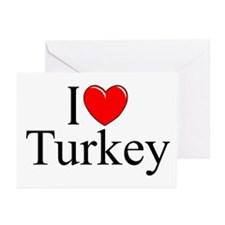 """I Love Turkey"" Greeting Cards (Pk of 10)"