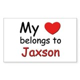 My heart belongs to jaxson Rectangle Decal