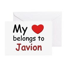 My heart belongs to javion Greeting Cards (Package