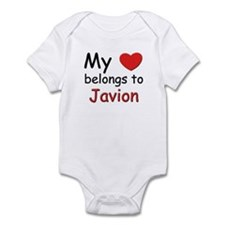 My heart belongs to javion Infant Bodysuit