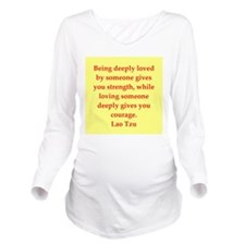 laotzu12.png Long Sleeve Maternity T-Shirt