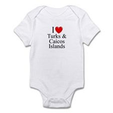 """I Love Turks & Caicos Islands"" Infant Bodysuit"