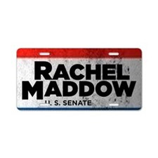 ART Sticker Rachel Maddow f Aluminum License Plate