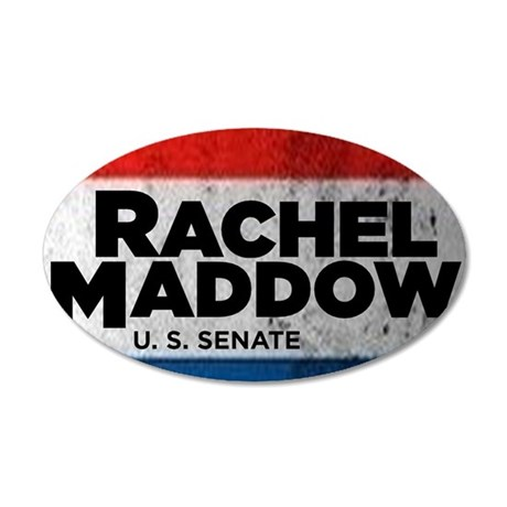 ART Sticker Rachel Maddow fo 35x21 Oval Wall Decal