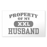 Property of my Husband Rectangle Decal