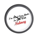 In Love with Sidney Wall Clock
