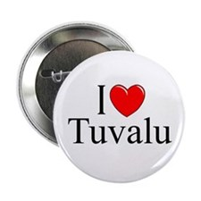 """I Love Tuvalu"" Button"