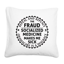 march_repeal_the_fruad_black Square Canvas Pillow