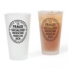 march_repeal_the_fruad_black Drinking Glass