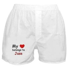 My heart belongs to jase Boxer Shorts