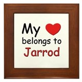 My heart belongs to jarrod Framed Tile