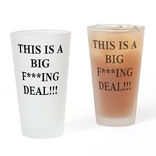 f-bomb-bw-200 Drinking Glass