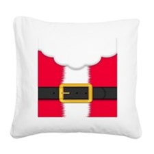 Santa Outfit Square Canvas Pillow